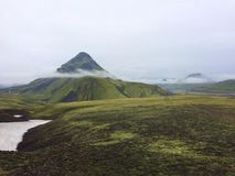 Iceland Highlands Volcano Mountain with Clouds royalty free stock images
