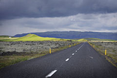 Iceland: Highway number one royalty free stock image