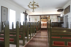 Iceland. Holar church, 1763. Interior. North Iceland. Interior of Holar church dated 1763 in North Iceland stock photography