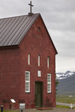 Iceland. Holar church, 1763. Red sandstone. North Iceland. Royalty Free Stock Photo
