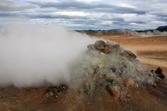 Iceland - Hot Springs. Geothermal hot springs near Krafla volcano in Iceland Royalty Free Stock Photography