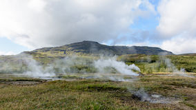 Iceland hot springs Royalty Free Stock Image