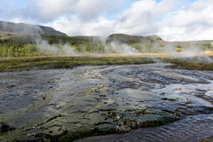 Iceland hot springs Royalty Free Stock Photos