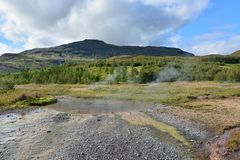 Iceland hot springs Royalty Free Stock Photo