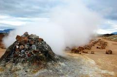 Iceland - hot stream point, Namaskard Royalty Free Stock Image