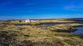 Iceland houses on the coast Stock Photography