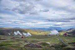 Iceland_hydrothermalpower Стоковые Фотографии RF