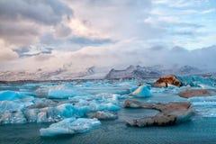 Iceland Icebergs Stock Photo