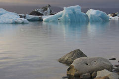 Iceland: Icebergs in glacier lake Stock Photography
