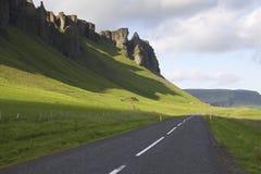 Iceland: Iceland główna droga Zdjęcie Stock