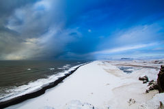 Iceland. Ic winter countryside view  before storm Atlantic Ocean Stock Photography