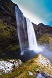 Iceland. Ic winter  landscape country side Seljalandsfoss  waterfall Stock Photos