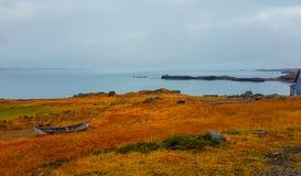 Iceland - jesie? klimaty fjord zdjęcie royalty free