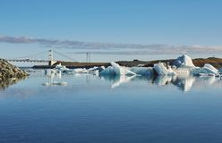 Beautiful cold landscape picture of icelandic glacier lagoon bay, Stock Photos