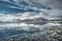 is- iceland jokulsarlonlagun Royaltyfri Fotografi