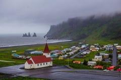 iceland kościelny vik Zdjęcia Royalty Free