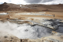 Iceland. Krafla. Active volcanic zone. Geothermical vents. Royalty Free Stock Photos