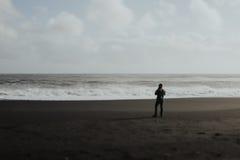 Iceland krajobraz - Czarna plaża Obraz Royalty Free