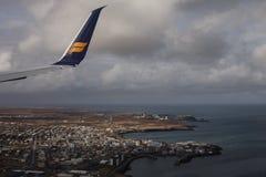Iceland krajobraz - przyjazd Obrazy Stock