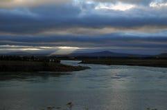 Iceland krajobraz z rzeką Obraz Stock