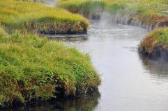 Iceland krajobrazowa gorąca rzeka Zdjęcia Stock