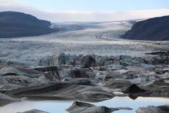 Iceland krajobrazu lodowiec Obraz Royalty Free