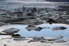 Iceland krajobrazu lodowiec Obrazy Royalty Free