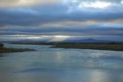 Iceland krajobrazu rzeka Zdjęcie Royalty Free