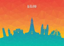 Iceland Landmark Global Travel And Journey paper background. Vec. Tor Design Template.used for your advertisement, book, banner, template, travel business or Stock Photos