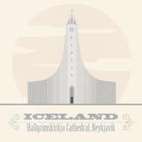 Iceland landmarks. Retro styled image Royalty Free Stock Photography