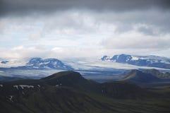 Iceland landscape. The scenic  landscape in middle part Landmannalaugar trek near Alftavatn lake Stock Photography