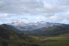Iceland landscape. The scenic  landscape in middle part Landmannalaugar trek near Alftavatn lake Stock Images