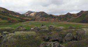 Iceland - landscape along  track Laugavegur Stock Images