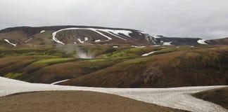 Iceland - landscape along  track Laugavegur Stock Image