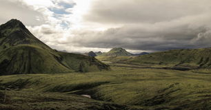 Iceland - landscape along  track Laugavegur Royalty Free Stock Images