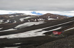 Iceland - landscape along  track Laugavegur Stock Photography