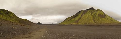Iceland - landscape along  track Laugavegur Stock Photos
