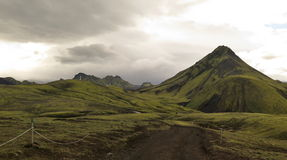 Iceland - landscape along  track Laugavegur Royalty Free Stock Photography