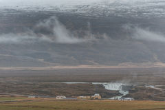 Iceland Landscape and Godafoss Waterfall in Background Stock Photos