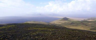 Iceland landscape on Hjörleifshöfði Royalty Free Stock Image