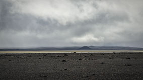 Iceland landscape. Icelandic landscape: inland wilderness with craters and lavafields royalty free stock photo
