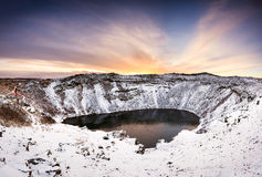 Iceland landscape, Kerid Royalty Free Stock Photography