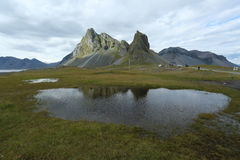 Iceland landscape natural. Beautiful Iceland landscape with lake Royalty Free Stock Photos