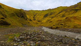 Iceland landscape natural looking landscape in green colours Stock Photo