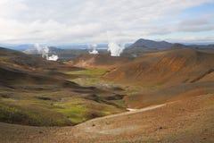 Iceland landscape natural looking landscape in green colours. Beautiful Iceland landscape natural looking landscape Stock Images