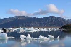 Iceland landscape natural looking landscape with ice fields. Beautiful Iceland landscape natural looking landscape with ice and fjords Royalty Free Stock Image
