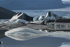 Iceland landscape natural looking landscape with ice fields. Beautiful Iceland landscape natural looking landscape with ice and fjords Royalty Free Stock Images