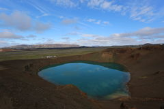 Iceland landscape natural tarn. Beautiful Iceland landscape with tarn Royalty Free Stock Images