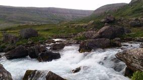 Iceland landscape near Dynjandi Waterfall Royalty Free Stock Image