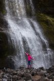 Waterfall on west side of Snaefellsnes peninsula at Iceland royalty free stock images